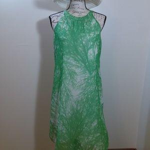 Shift Dress Sheer Overlay NEW